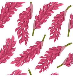 Tropical flowers seamless pattern vector