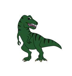 Tyrannosarus or t-rex dinosaur vector