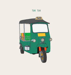 uk tuk in bangkok of thailand vector image