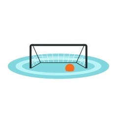 Water polo gates icon vector image