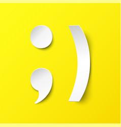 white paper smile vector image