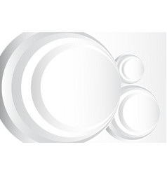 abstract circle white background vector image vector image