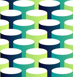 Abstract isometric 3d circle pattern background vector image vector image