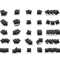 Blank photos set vector image