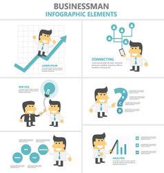 Businessman activity Infographic elements set vector image