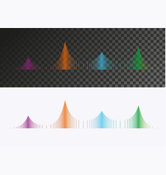 colored sound wave vector image