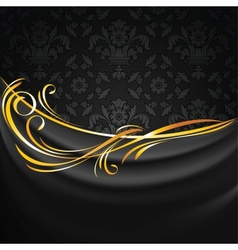 Dark fabric drapes vector image vector image
