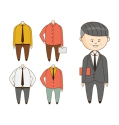 Different Outfits For Character Construction vector image vector image