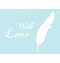 feather quill vector image vector image