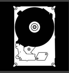 Hard drive disk the white color icon vector