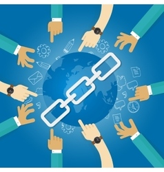 Link building seo search engine optimization world vector