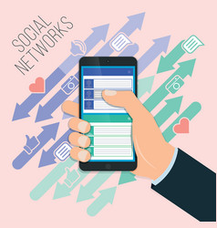 mobile social networking chat chat exchange vector image