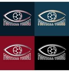 soccer vision design template vector image vector image