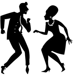 The Twist silhouette vector image vector image