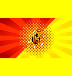 Versus letters fight banner vector