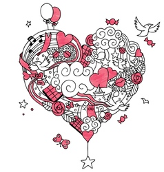 Love Doodle 2 vector image vector image