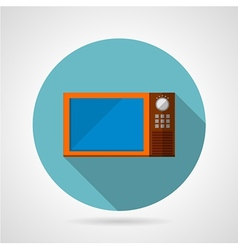 Modern microwave oven flat icon vector image vector image