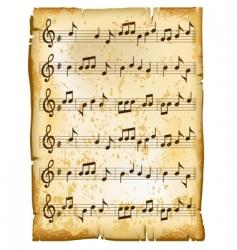 Music sheet vector
