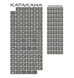 set of monochrome icons with japanese alphabet vector image vector image