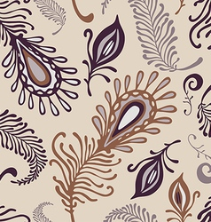 various feather pattern vector image vector image