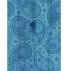 Wooden background with paisley pattern vector image vector image