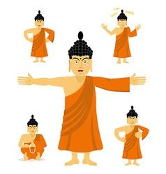 Buddha set of movements Indian god set of poses vector image vector image