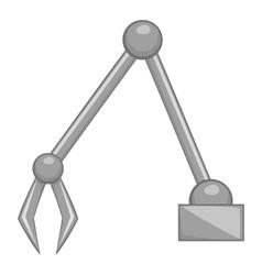 Excavator bucket icon gray monochrome style vector