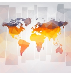 modern concept of world map vector image