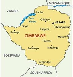 Republic of Zimbabwe - map vector image