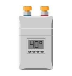 water heating boiler vector image