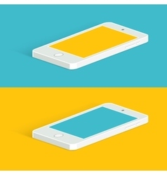 White infographic phone Isometric view vector image