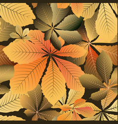 yellow leaves pattern vector image vector image