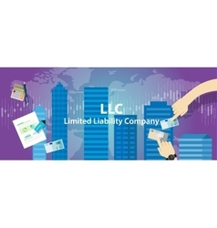 Acronym LLC as limited liability company vector image