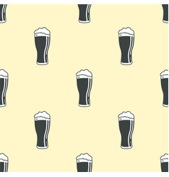 beer glass pattern seamless background vector image vector image