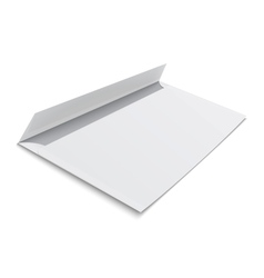 Blank envelope on white background vector image vector image