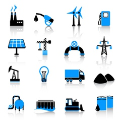 Industry icons vector