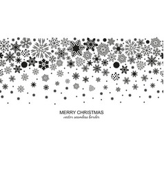 Seamless snowflake header white background vector