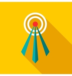 Telecommunication tower icon flat style vector image