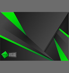 abstract geometric green and black color vector image