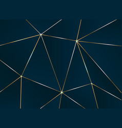 Abstract pentagonal pattern with golden line vector