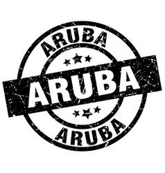 Aruba black round grunge stamp vector