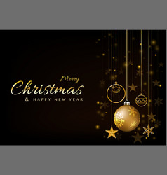 Background christmas design with ball glowing vector