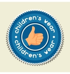 Background with sticker children wear for vector