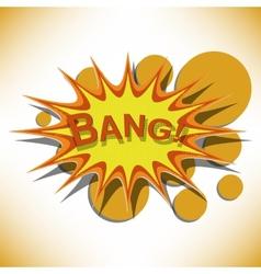 Bang Comic book explosion vector