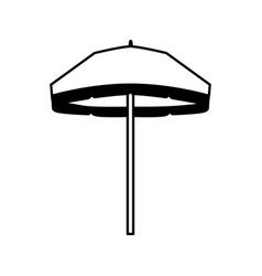 beach umbrella isolated icon vector image