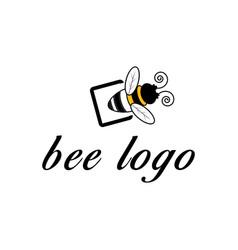 Bee logo initial c vector