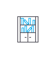 bookcase linear icon concept bookcase line vector image