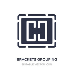 Brackets grouping icon on white background simple vector