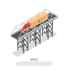 Bridge detail isometric vector