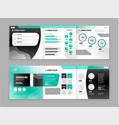 brochure cover design set vector image